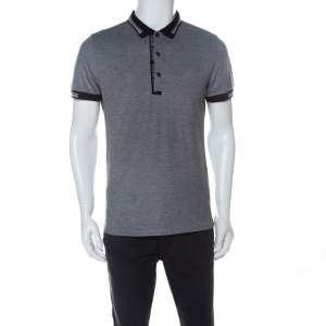 Boss by Hugo Boss Grey Cotton Paule-4 Polo Shirt L