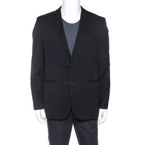 Boss By Hugo Boss Black Pinstriped Wool Blend Jam 1 Sharp 1 Blazer L