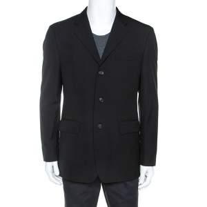 Boss By Hugo Boss Black Wool Sherlock Pipe Blazer L