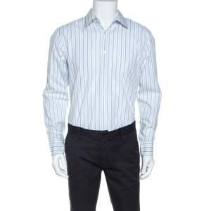 Boss By Hugo Boss Striped Cotton Julen Shirt XL