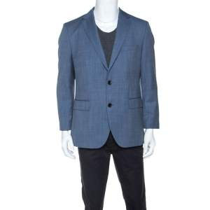 Boss By Hugo Boss Blue Wool Jeen Blazer L