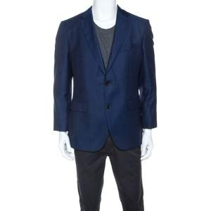 Boss by Hugo Boss Navy Blue Wool Jeen Blazer L