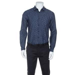 Boss By Hugo Boss Bicolor Printed Bersh Slim Fit Shirt M