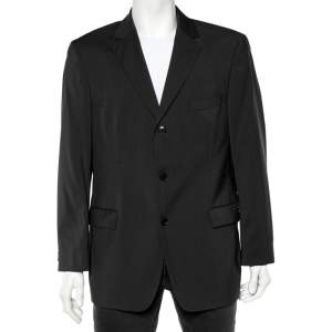 Boss By Hugo Boss Grey Wool Button Front Blazer XL