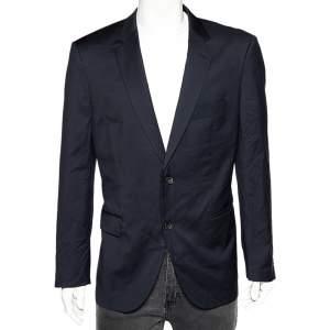 Boss By Hugo Boss Navy Blue Wool T-Howard4/Court5 Tailored Blazer XXL