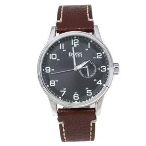 Hugo Boss Black Stainless Steel and Leather Boss HB. 88.1.14.2430 Men's Wristwatch 45 mm
