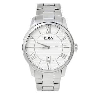 Boss By Hugo Boss Silver Stainless Steel HB.217.1.14.2614 Men's Wristwatch 43 mm