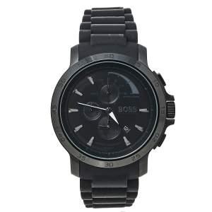 ساعة يد رجالية بوس باي هوغو بوس HB.76.1.34.2161 ستانلس ستيل مطلي ايون سودء 47 مم
