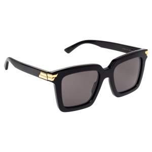 Bottega Veneta Black BV1005S Square Sunglasses