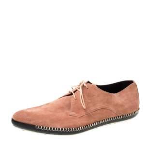 Bottega Veneta Pink Suede Dhalia Pointed Toe Derby Size 42