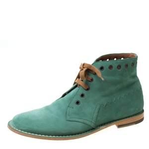 حذاء بوت بوتيغا فينيتا أربطة سويدي أخضر مقاس 42
