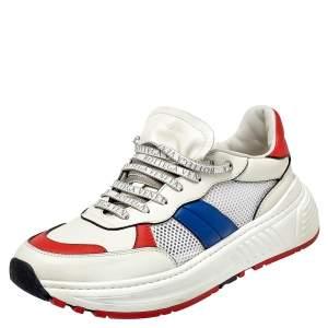 Bottega Veneta Tricolor Mesh and Leather Speedster Sneakers Size 43.5