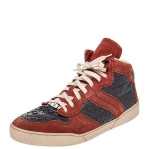 حذاء رياضي بوتيغا فينيتا جلد أنترشياتو وسويدي رصاصي/أحمر مرتفع من أعلى مقاس 43