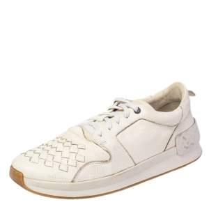 حذاء رياضي بوتيغا فينيتا جلد أنترشياتو أبيض رباط منخفض من أعلى مقاس 43