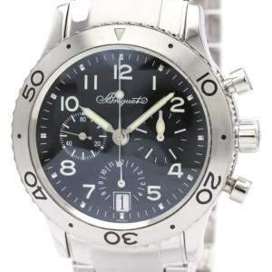 Breguet Black Stainless Steel Transatlantique Type XX Automatic 3820 Men's Wristwatch 40 MM