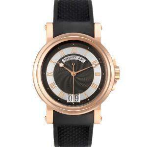 Breguet Grey 18K Rose Gold Marine Big Date 5817BR Men's Wristwatch 39 MM