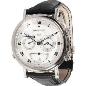Breguet Silver 18K White Gold LeReveil Du Tsar 5707BB/12/9V6 Men's Wristwatch 40 MM