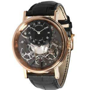 Breguet Grey 18K Rose Gold Tradition 7057BR/G9/9W6 Men's Wristwatch 40 MM