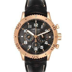 Breguet Brown 18K Rose Gold Type XXI Flyback Chronograph 3810BR Men's Wristwatch 42.5 MM