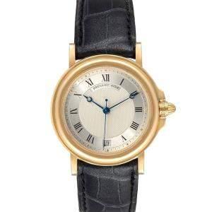 Breguet Silver 18K Yellow Gold Classique 4154G Men's Wristwatch 35 MM