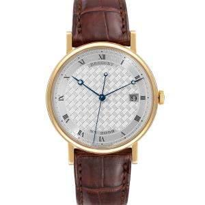 Breguet Silver 18K Yellow Gold Classique 5177 Men's Wristwatch 38 MM
