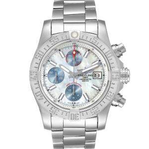Breitling MOP Stainless Steel Super Avenger Special Edition A13381 Men's Wristwatch 43 MM