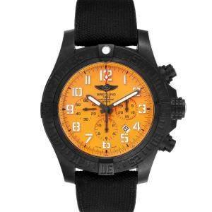 ساعة يد رجالية بريتلينغ  أفينغر هوركان XB0170 برايتلايت صفراء 50 مم