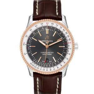 Breitling Black 18K Rose Gold Navitimer 1 U17326 Men's Wristwatch 41 MM