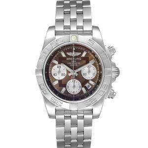 Breitling Brown Stainless Steel Chronomat Evolution AB0140 Men's Wristwatch 41 MM