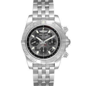 Breitling Grey Stainless Steel Chronomat Evolution AB0140 Men's Wristwatch 41 MM