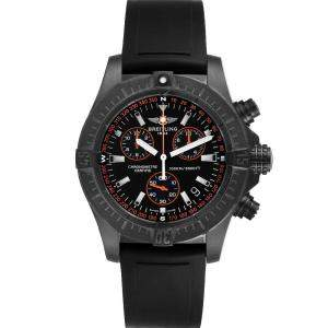Breitling Black Blacksteel Avenger Seawolf Chrono M73390 Men's Wristwatch 45 MM