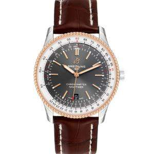 Breitling Grey 18K Rose Gold Navitimer 1 U17326 Men's Wristwatch 41 MM