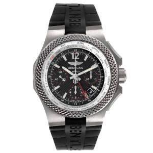 ساعة يد رجالية بريتلينغ بينتلي GMT B04 EB0433 تيتانيوم سوداء 45مم