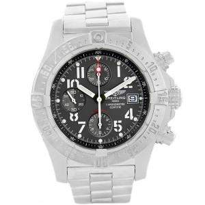 Breitling Black Stainless Steel Aeromarine Avenger Skyland A13380 Men's Wristwatch 45MM