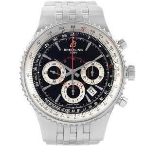 Breitling Black Stainless Steel Montbrillant A23351 Men's Wristwatch 47MM