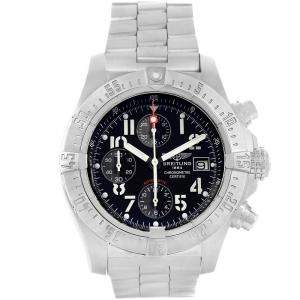 Breitling Black Stainless Steel Aeromarine Avenger Skyland A13380 Men's Wristwatch 45 MM