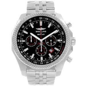 Breitling Black Stainless Steel Bentley Barnato Racing A25368 Men's Wristwatch 49 MM