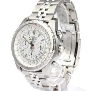 Breitling Silver Stainless Steel Bentley Motors A25363 Men's Wristwatch 49MM