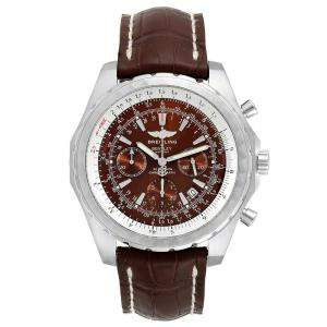 Breitling Bronze Stainless Steel and Leather Bentley T Chrono A25363 Men's Wristwatch 48.7MM