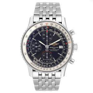 Breitling Black and Stainless Steel Navitimer Men's Wristwatch 42MM