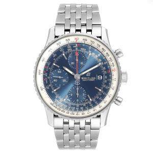 Breitling Blue and Stainless Steel Navitimer Men's Wristwatch 42MM