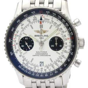 Breitling White Stainless Steel Navitimer 05 A23330 Men's Wristwatch 41 MM