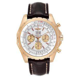 Breitling Silver 18K Rose Gold Bentley H44363 Men's Wristwatch 48 MM