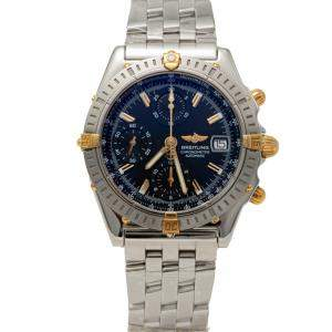 Breitling Black Dial Steel & Yellow Gold Chronomat Chronograph Men's Watch 39MM