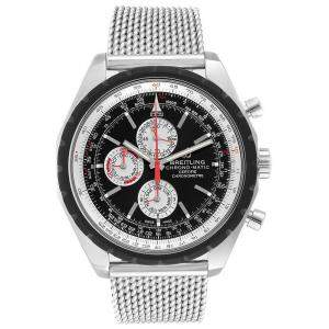 Breitling Black Stainless Steel Chrono-Matic 1461 A19360 Men's Wristwatch 49 MM
