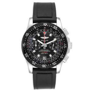 Breitling Black Rubber And Stainless Steel Skyracer Raven A27364 Men's Wristwatch 43.5 MM