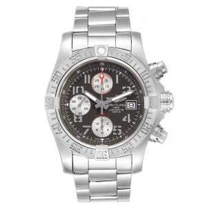 Breitling Tungsten Gray Stainless Steel Super Avenger Chronograph A13381 Men's Wristwatch 43 MM