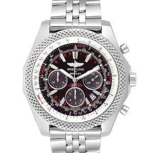 Breitling Black/Red Stainless Steel Bentley Motors Chronograph A25364 Men's Wristwatch 49 MM