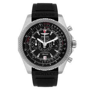 """ساعة يد رجالية بريتلينغ """"بينتلي سوبر سبورتس 27365اي"""" تيتانيوم سوداء 49 مم"""