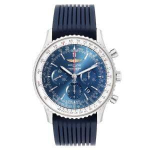 "ساعة يد رجالية بريتلينغ ""ناڨيتيمر 01 إصدار حصري 0127بي ايه"" ستانلس ستيل زرقاء 46 مم"